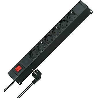 Kopp 931305010 19 socket strip 2x 6 Black PG connector