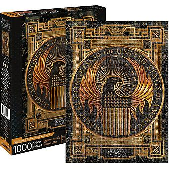 Fantastic Beasts Magical Congress Usa 1000 Piece Jigsaw Puzzle 690Mm X 510Mm
