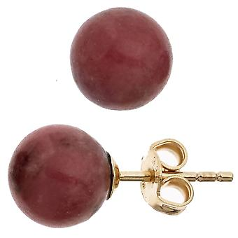 Oído espárragos pendiente perlas forma 333 oro amarillo oro 2 Mascarada pendientes dorado