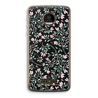 Motorola Moto Z Force transparant Case (Soft) - Dainty bloemen