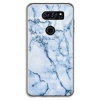 LG V30 Transparent Case - Blue marble