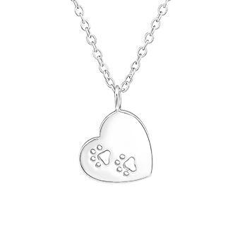 Hjärta - 925 Sterling Silver Plain halsband