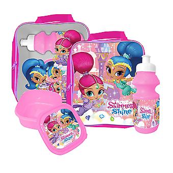 Shimmer and Shine Bag with lunch box and water bottle