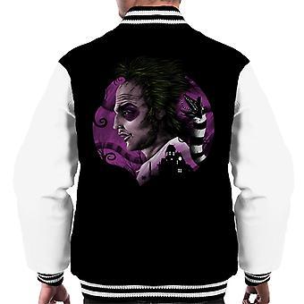 Devious Ghost Beetlejuice Men's Varsity Jacket