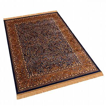 Blue Persian Tree of Life Artificial Silk Antislip Rugs H262/9 140 x 200cm