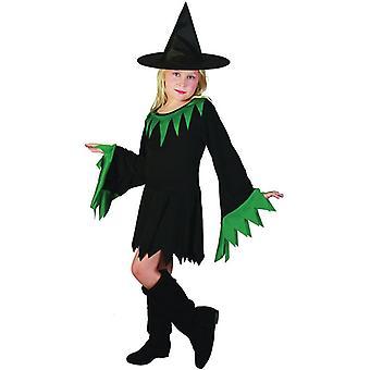 Czarownica czarno zielonym (kapelusz zawarte), małych.