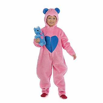 Happy Teddy bear pink kids costume luck bear girl costume