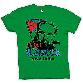 Womens T-shirt - Fidel Castro Viva Cuba - Communism