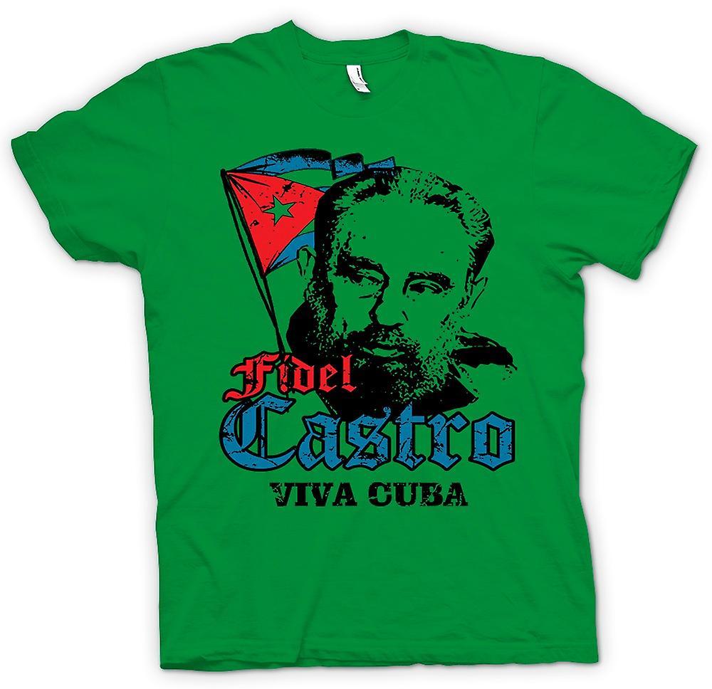 Mens t-skjorte - Fidel Castro Viva Cuba - kommunismen