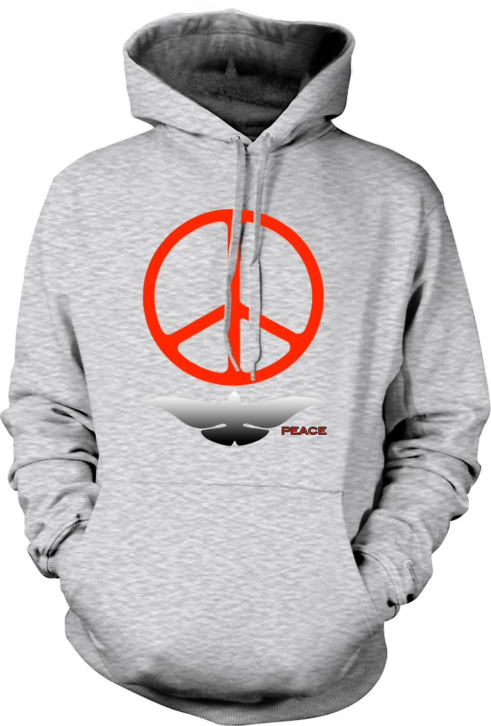 Mens Hoodie - Greenpeace Love Dove CND