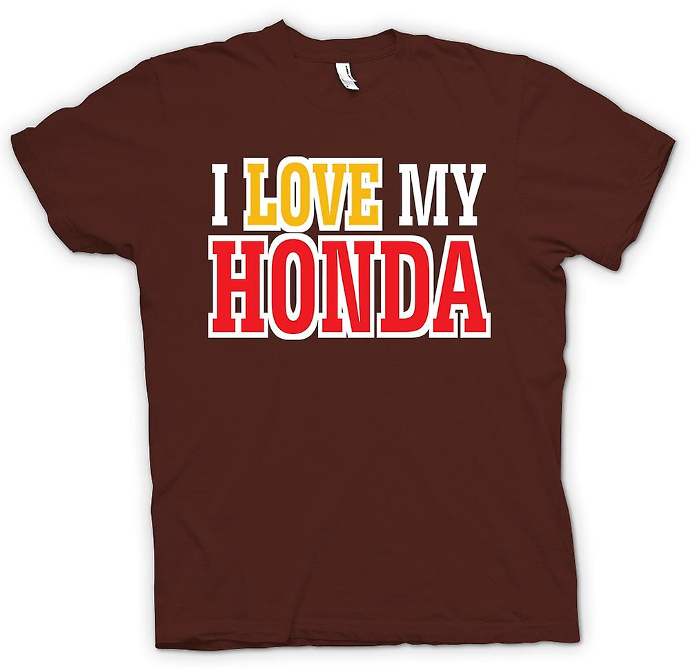 Mens T-shirt - I Love My Honda - Car Enthusiast