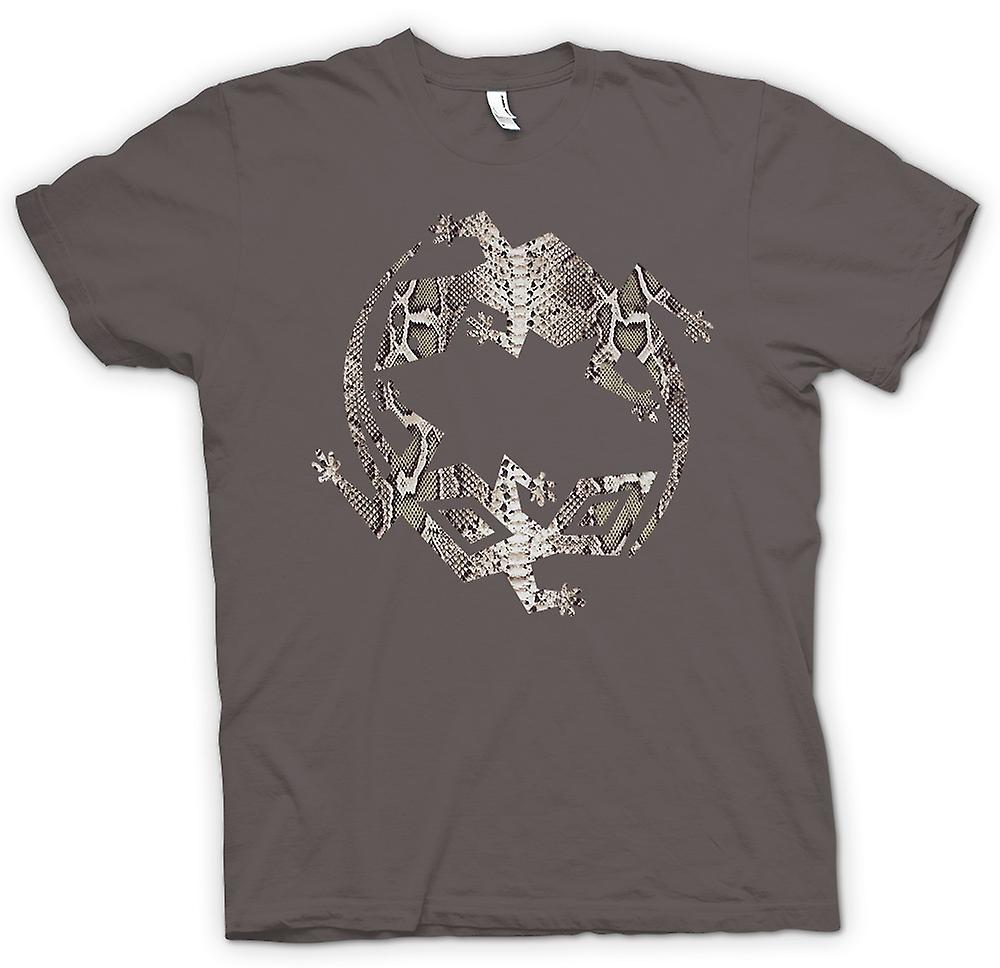 Womens T-shirt - Lizard and Gecko Symbol - Snake Skin