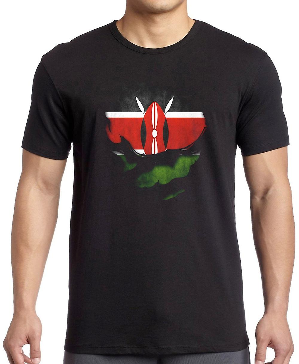 Kenya Kenyan Ripped Effect Under Shirt T Shirt