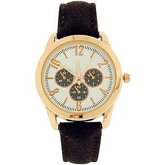 Time Collection Analogue Ladies Girls Chrono Effect Brown PU Strap Watch SEC02C