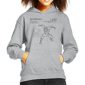 Marvel Black Panther Patent Pouncing Kid's Hooded Sweatshirt