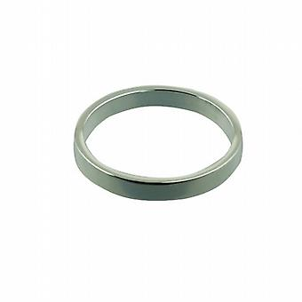 Silver 3mm plain flat Wedding Ring Size Z