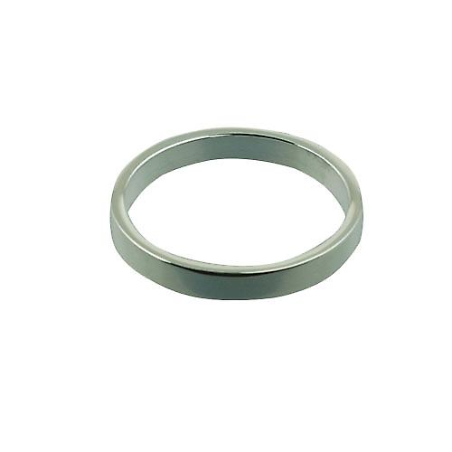 Silver 3mm plain flat Wedding Ring Size U