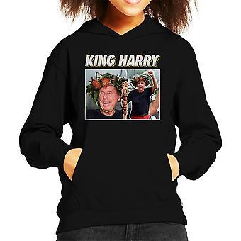 Im A Celebrity King Harry Redknapp gekroond Kid's Hooded Sweatshirt