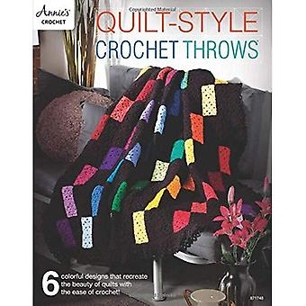 Quilt-Style Crochet Throws: 6 Colorful Designs That Recreate the Beauty of Quilts with the Ease of Crochet!