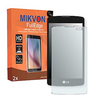 LG L Fino screen protector - Mikvon FullEdge (screen protector with full protection and custom fit for the curved display)