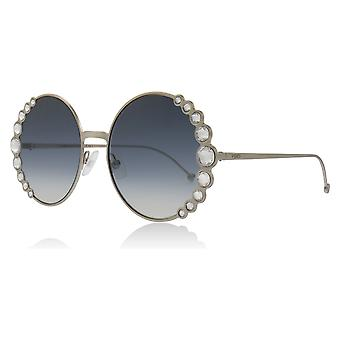 Fendi FF0324/S 3YG Light Gold FF0324/S Round Sunglasses Lens Category 2 Size 58mm