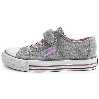 Levis ragazze Trucker elastico basso tela scarpe argento rosa