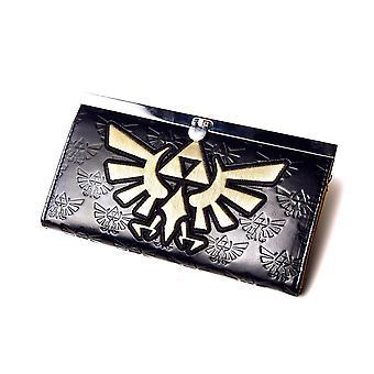 The legend of Zelda ladies purse golden bird logo black, from 50% polyester, 50% polyurethane.