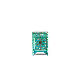 The Nine Schools Oriental Decorated Blue Small Cabinet - Baumhaus