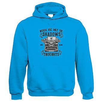 Shadows Of Thoughts Hoodie   Word Book Novel Publisher Typewriter Journalism    Christmas Birthday Anniversary Celebration Gift    Pop Culture Gift Him Her Birthday