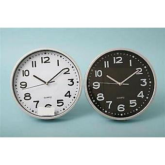 Plastic Silver Rim Wall Clock 22.5cm * ONE Clock Supplied* - (CL0150)