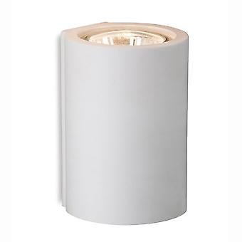 Plâtre unique puits Firstlight haut ou le bas de mur de lumière en blanc