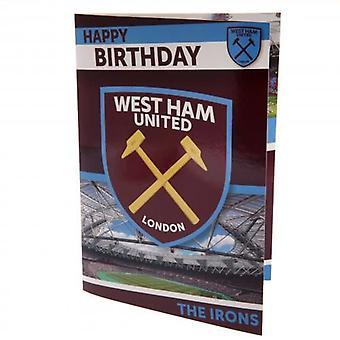 West Ham United Musical födelsedagskort