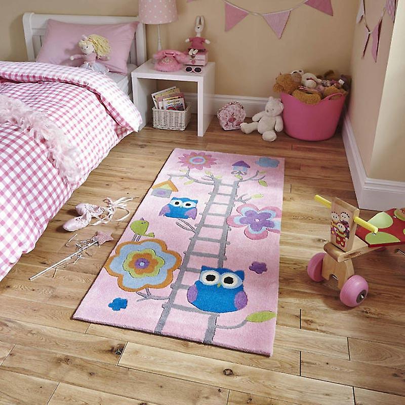 Rugs - Hong Kong - HK5648 Owl Treehouse Pink