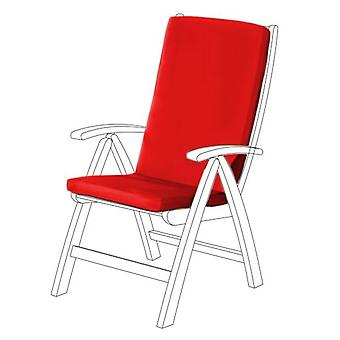 Gardenista® Red Water Resistant Highback Seat Pad for Garden Chair, Pack of 8