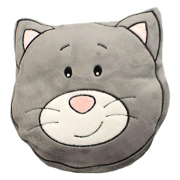 Children's Plush Velour Cherry Stone Cushion: Cat