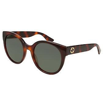 Gucci Havana Round Ladies Sunglasses - GG0035S-011
