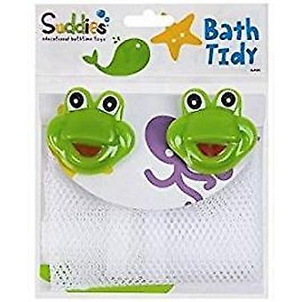 Suddies Bath Tidy Net With Frog Suction Cups