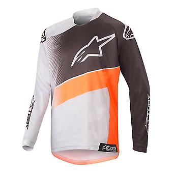 Alpinestars Grey-Orange-Black 2019 Racer Supermatic Kids MX Jersey
