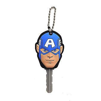 Key cap-Marvel-kaptein amerikansk Face myk touch PVC holder 68521