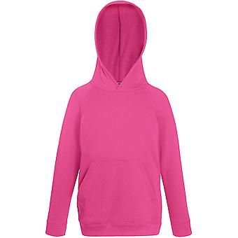 Fruit Of The Loom - Kids Lightweight Hooded Sweatshirt Hoody - School - Sports