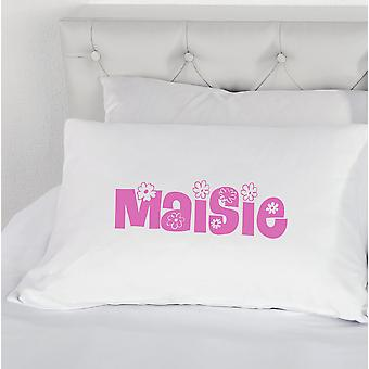 Personalised Flower Name Girls Pillowcase Novelty Boys Pillow Case Gift Bedding Present Personalized