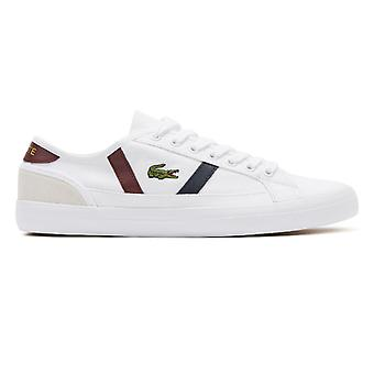 Lacoste Sideline 319 4 Mens White / Dark Red Trainers