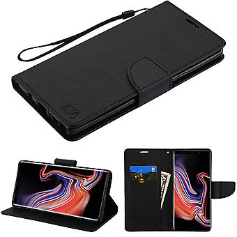MYBAT Black Pattern/Black Liner MyJacket wallet (with card slot)(84A) for Galaxy Note 9