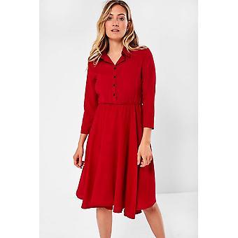 iClothing Siyana Belted Shirt Dress In Red-16