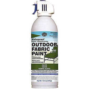 Outdoor Spray Fabric Paint 13.3oz-Olive OF0046-9M