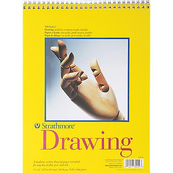 Strathmore Spiral Drawing Paper Pad 9