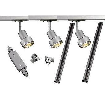 Mounting rail set (complete) GU10 12.9 W LED SLV 143194 Silver-grey