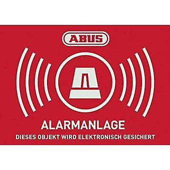 Warning label Alarm secured Languages German (W x H) 74 mm x 52.5 mm ABUS AU1423
