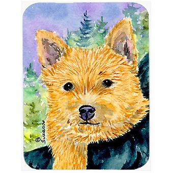 Norwich Terrier Glass Cutting Board Large
