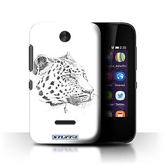 STUFF4 Case/Cover for Nokia Asha 230/Leopard/Sketch Drawing